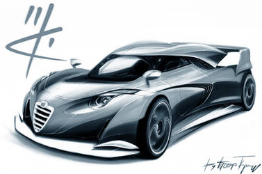 Alfa Romeo GT 24h Le Mans design sketch by RACING-IS-MY-LIFE
