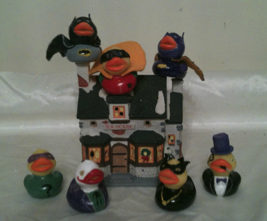 Batman Rubber Ducks by GoldenAgeGirl