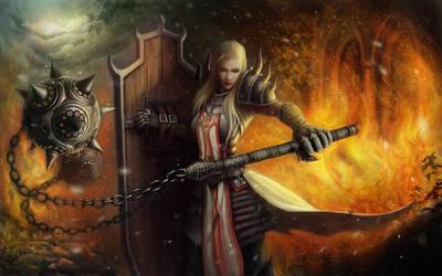 Crusader Diablo 3 Reaper of Souls by DianaKeehl