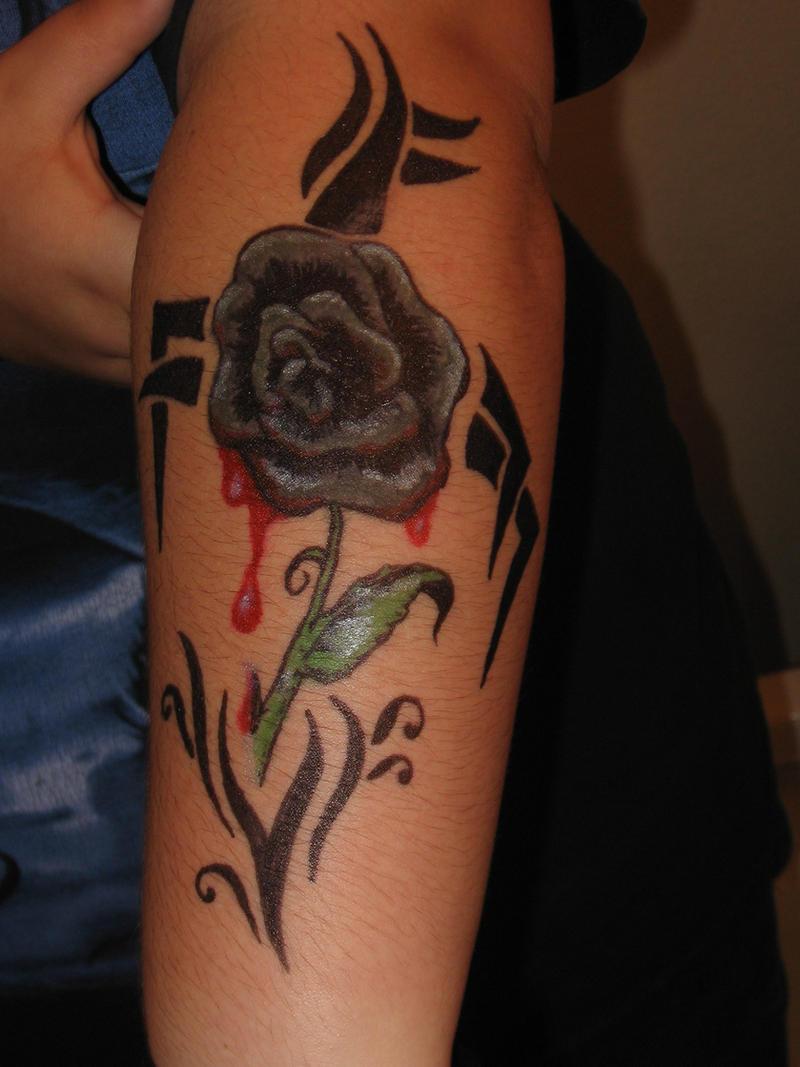 Black rose sharpie tattoo by forgottenvampiregirl on for Sharpie tattoo designs