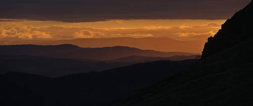 Sunrise from Wrynose by wilkopicture