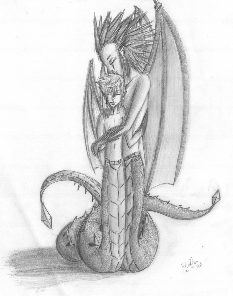 AkuRoku - Dragonids by Midnight-Dark-Angel