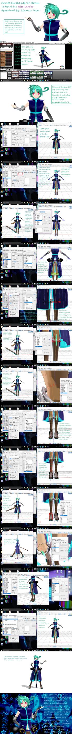 MMD PMD/PMX How to fix D Leg Bones by RitaLeader14