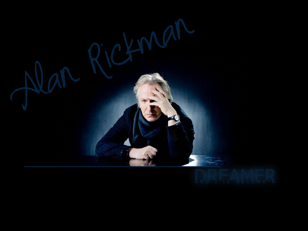 Alan Rickman Dreamer Wallpaper by SerenaLuv
