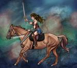 Wonder Woman Inspired Horseback Rider