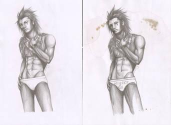 Re-sketch of Axel-Fierce by SamurajDreamer