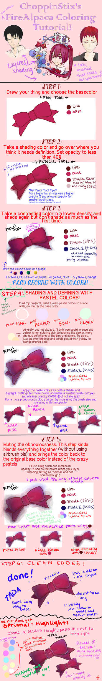 FireAlpaca: Layered Shading and Coloring Tutorial by ChoppinStix