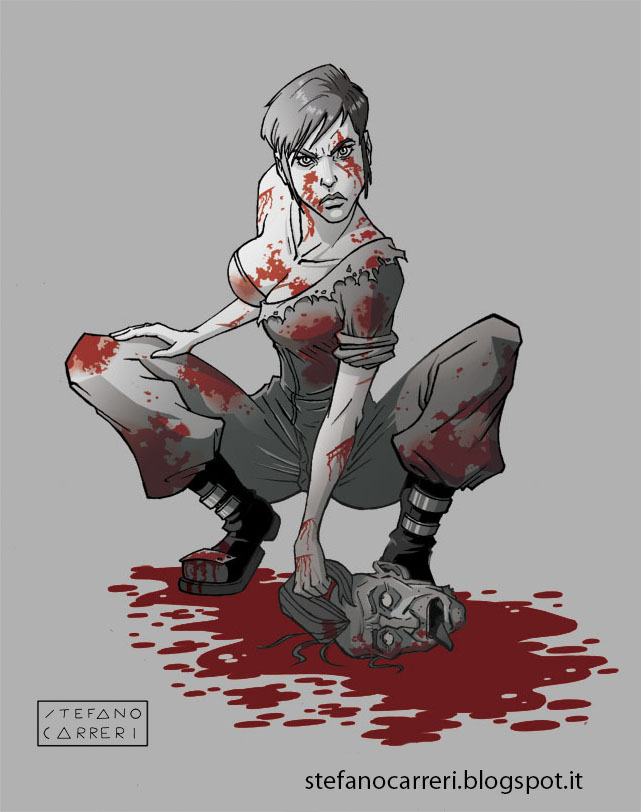 Blood Girl by SteCarreri