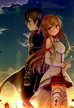 SAO - Kirito and Asuna Sunset