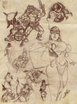 JAG - Labyrinths and lizards Characters!(sketches)