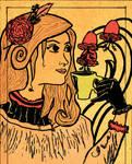 Iv - Art nouveau mademoiselle.