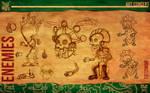 Aztec Xilo_Art Concept - Tzitzimime