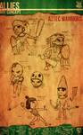 Aztec Xilo_Art Concept - Aztec Warriors