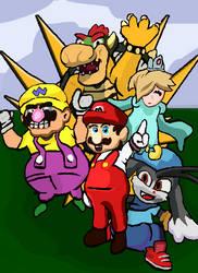 Horikawa Otane Fanart - 41/100 - Mario Challenge by Willhart