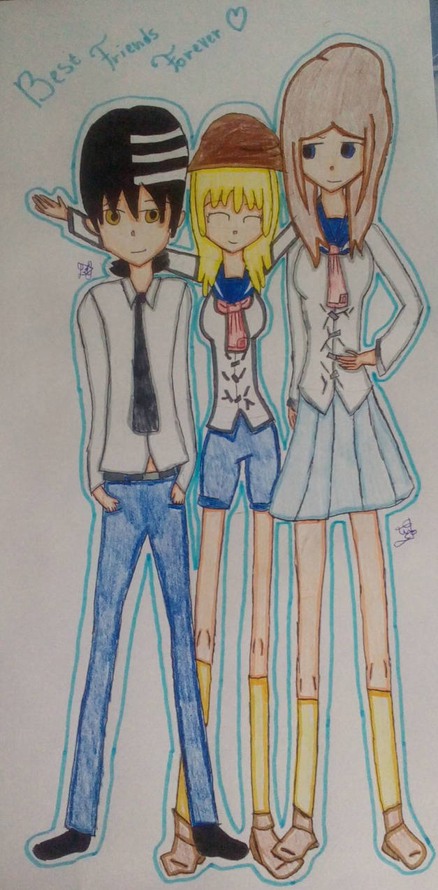Soul eater three best friends forever by suxilia77