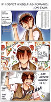 #If I depict myself as Romano : on Exam (Day 1)