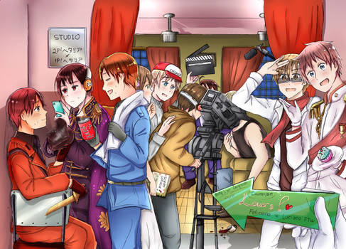 Behind the Scene of 2p!talia Series! #fanmade