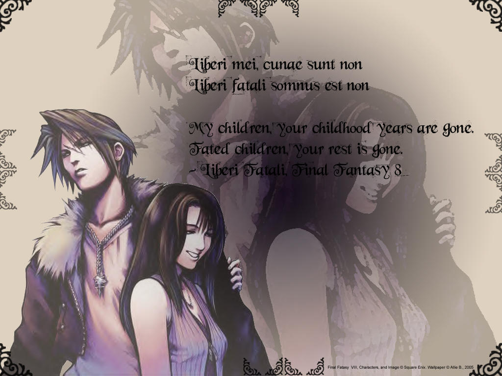 Squall And Rinoa Wallpaper