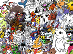 Ton of Digimon collab by DigiFoxCat