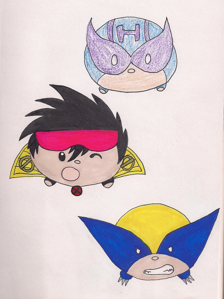 Marvel Tsum Tsums by DigiFoxCat