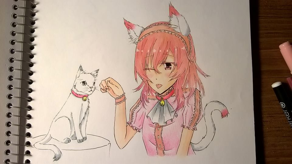 Neko girl by Kamikoroshu
