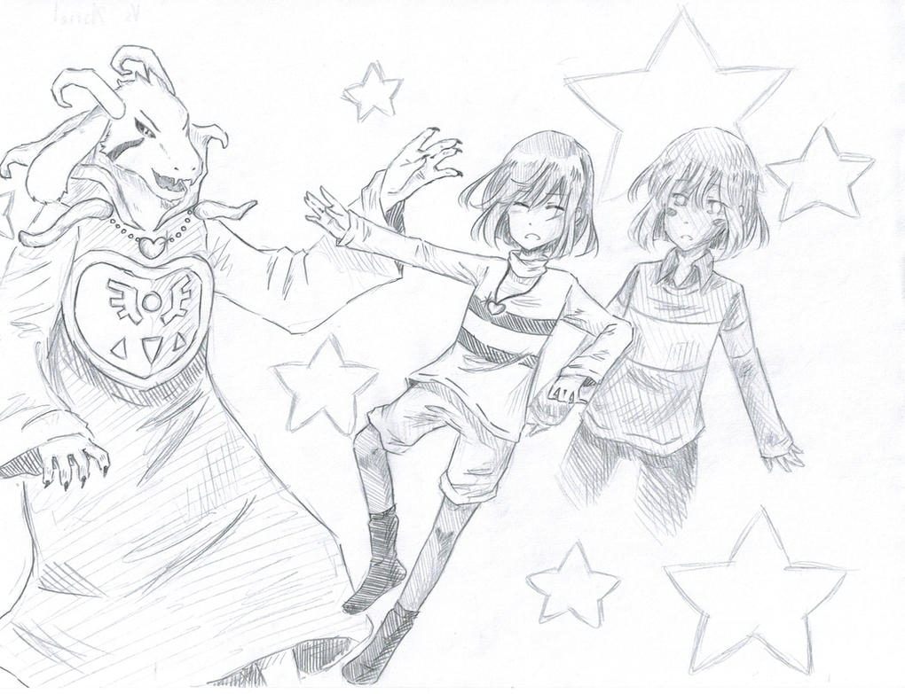 VS Asriel by Kamikoroshu