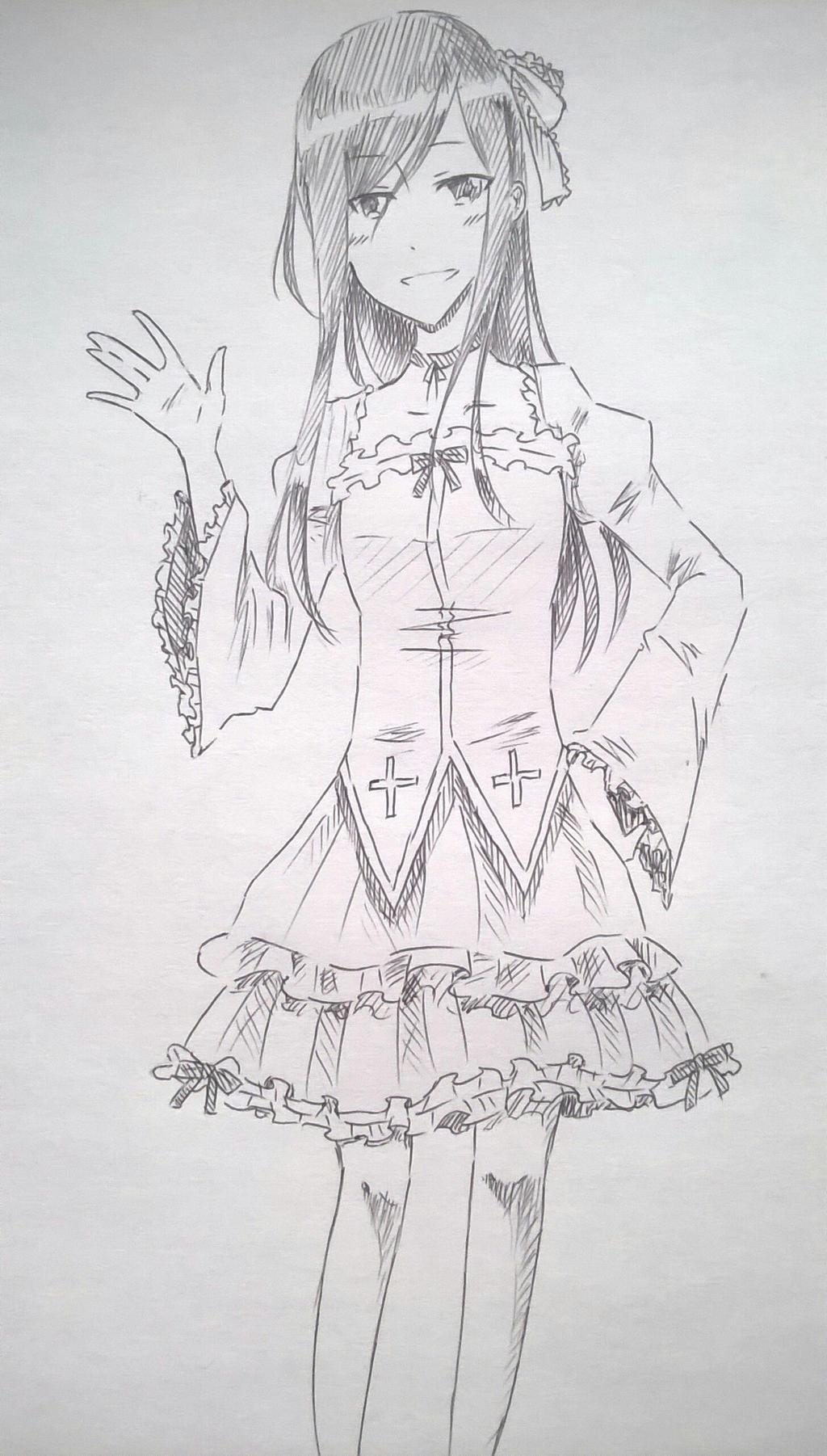 Goth loli outfit by Kamikoroshu