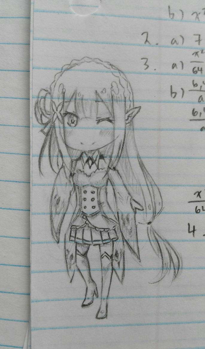Chibi Emilia by Kamikoroshu