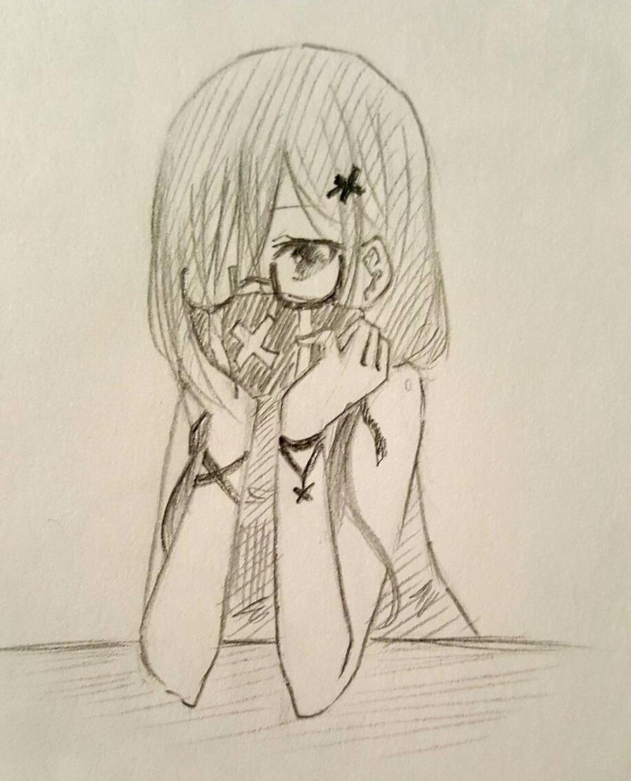 Mask girl by Kamikoroshu