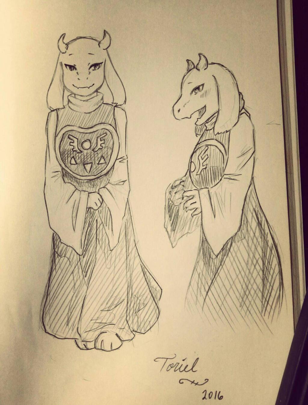 Toriel Sketch by Kamikoroshu