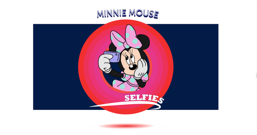Minnie selfie time by Yuna-Ina