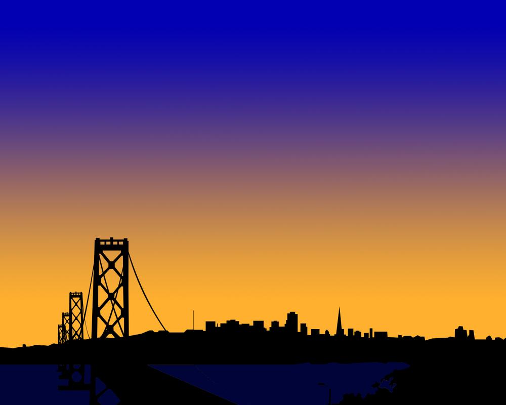San Francisco Silhouette by orangebananas