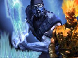 Subzero VS Scorpion by DragonkingJeff