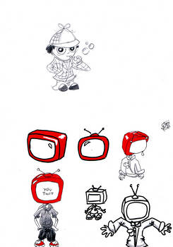 RED character design: TV kid
