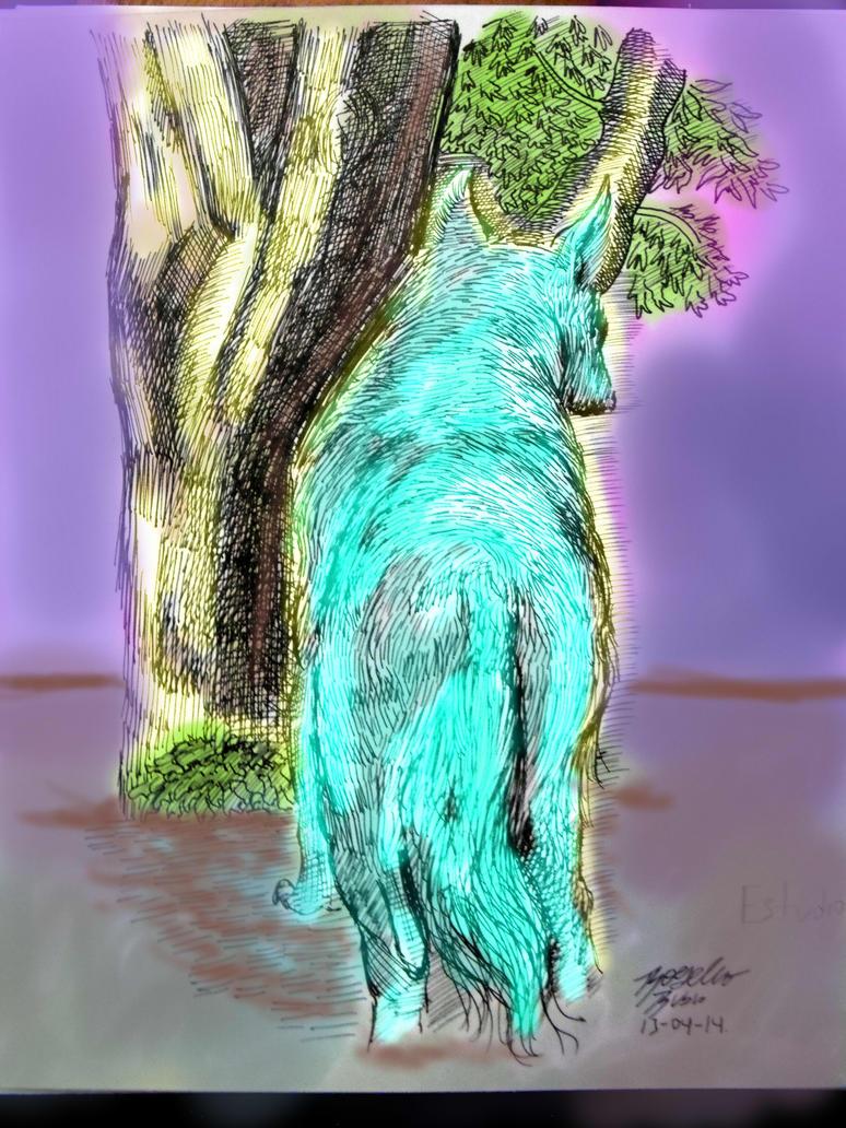 Practicando con color digital lobo by KyubiNabruto