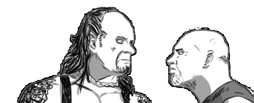 Undertaker and Goldberg by Adula11