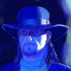 The Undertaker's portrait by LoboTaker