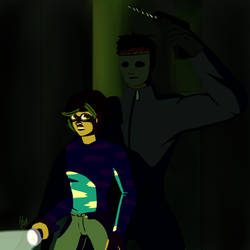 Behind you (redraw)