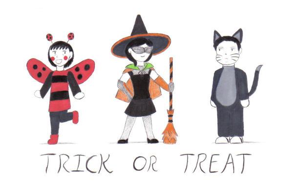 Inktober 2015: Family Halloween by dynablade