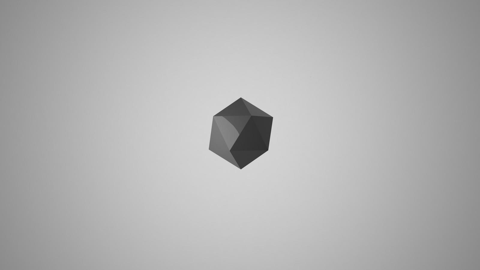4k minimalist wallpaper 3d by clover on deviantart for Minimal art reddit
