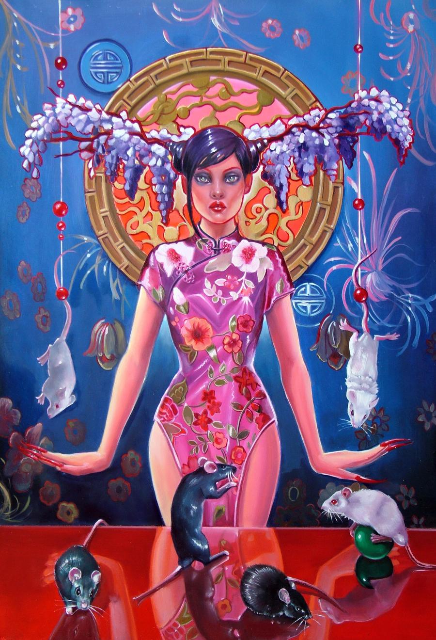 Oo  Not a stupid geisha  oO by Italia-Ruotolo-Art