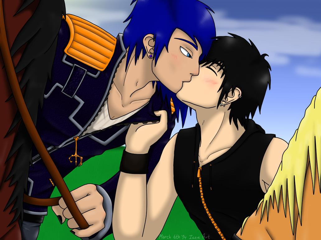 Horseback kissing by Vampiresuper-sayajin