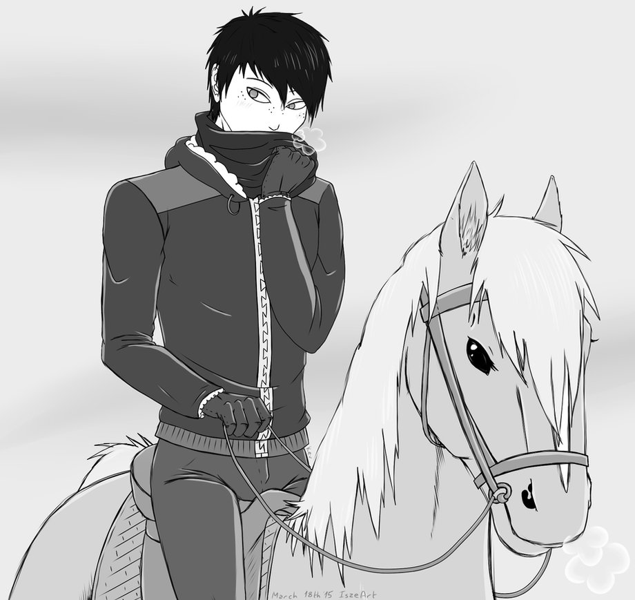 Winter ride on horseback by Vampiresuper-sayajin