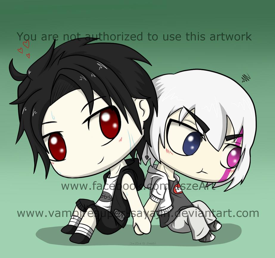 commission chibi - Armin and Mayo by Vampiresuper-sayajin