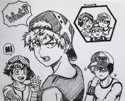 Deku, Bakugou and Todoroki
