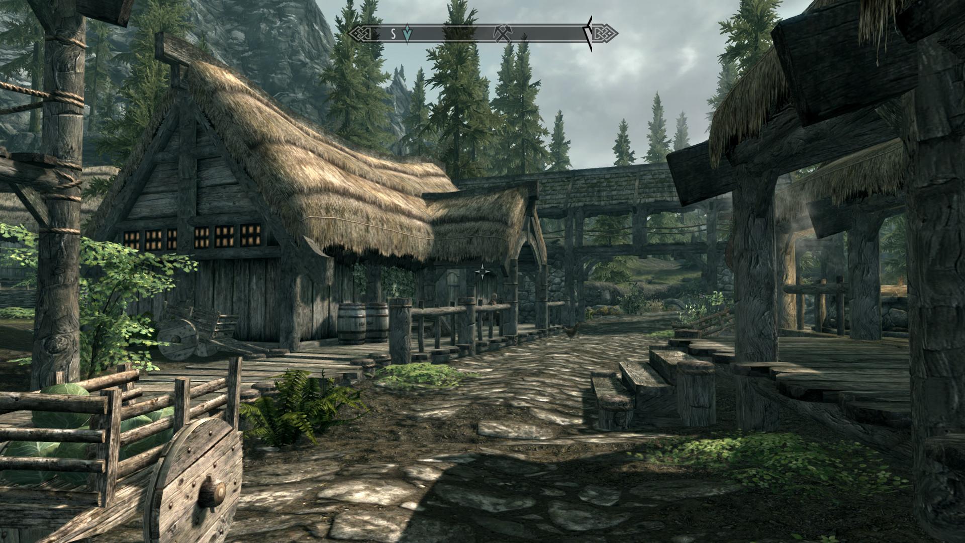 Skyrim Village High By The77s On Deviantart
