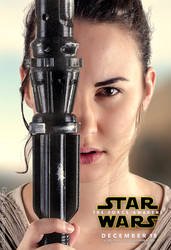 Rey cosplay (Star Wars Episode VII poster) by greglarro