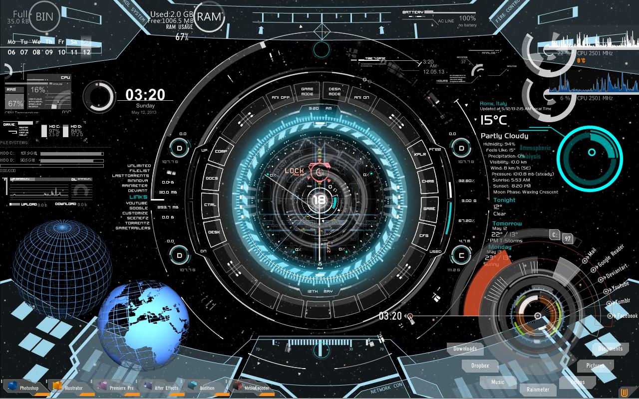 future desktop rainmeter by mistikfantasy on deviantart