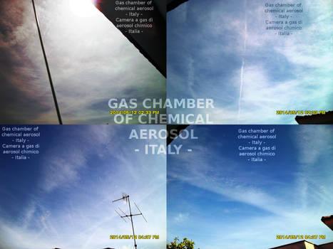 Italia sotto una camera a gas di aerosol chimico