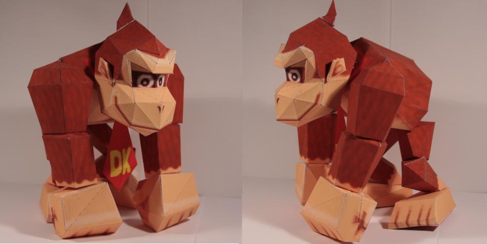 Donkey Kong papercraft by Drummyralf